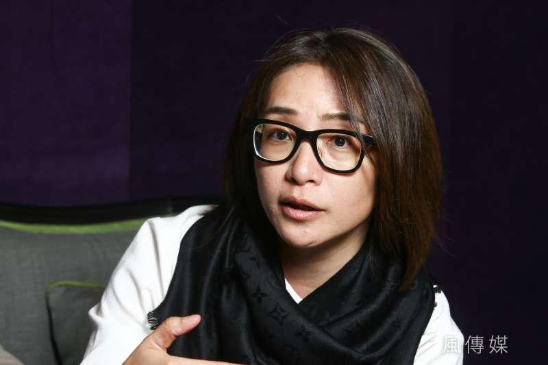 20190321-公視「我們與惡的距離」製作人林昱伶21日接受專訪。(蔡親傑攝)