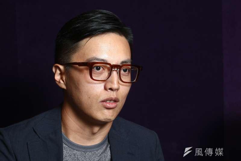 20190321-公視「我們與惡的距離」導演林君陽21日接受專訪。(蔡親傑攝)