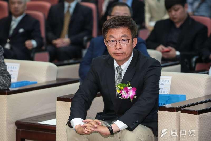 20190321-民進黨立委郭國文21日於立院宣誓就職。(顏麟宇攝)