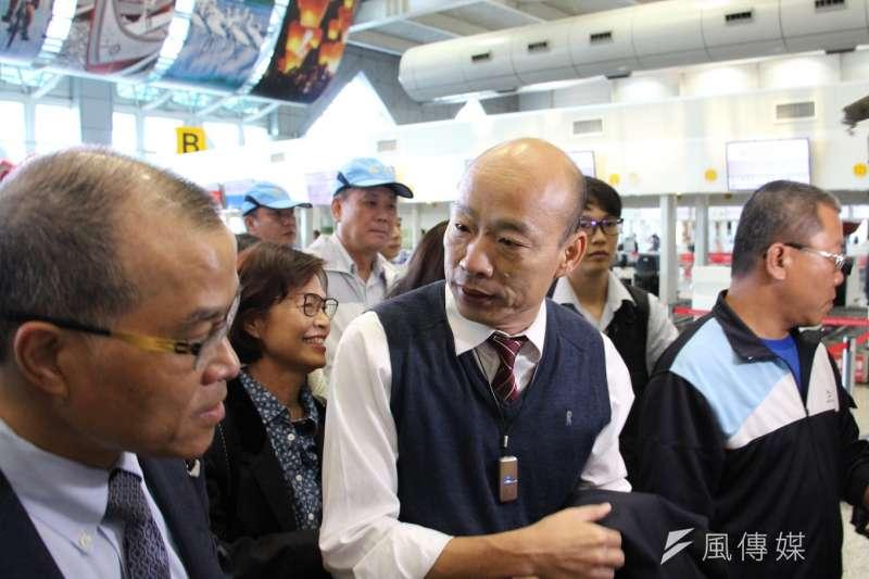 高雄市長韓國瑜22日訪港時,在致詞中提到「不丹的居民傻傻的、很單純」,還把喜馬拉雅山說成「阿爾卑斯山」,讓本土樂團「拷秋勤」發文狠酸。(資料照,徐炳文攝)