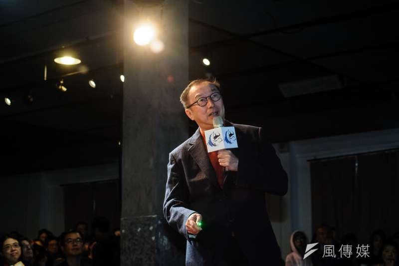 20190323-龍應台基金會春季思沙龍舉辦「勇敢面對AI新世界 — 一個工程師的人文觀察」講座,主講人廣達集團總裁林百里。(甘岱民攝)