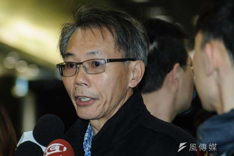 20190323-台大校務會議,台大機械系教授、工學院代表陳炳輝。(甘岱民攝)