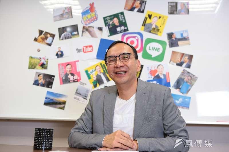 已積極投入總統大選的前新北市長朱立倫接受風傳媒專訪。(顏麟宇攝)