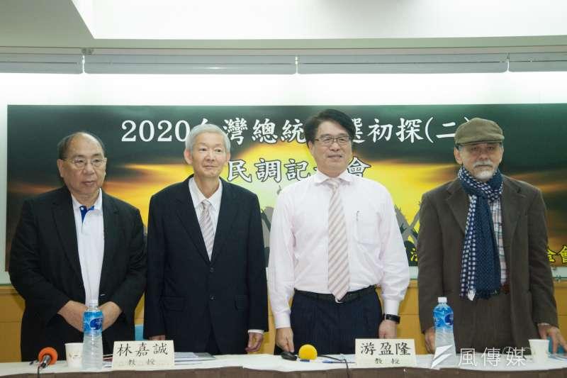 20190325-台灣民意基金會舉辦「2020台灣總統 大選初探(二)」民調發表會。(甘岱民攝)