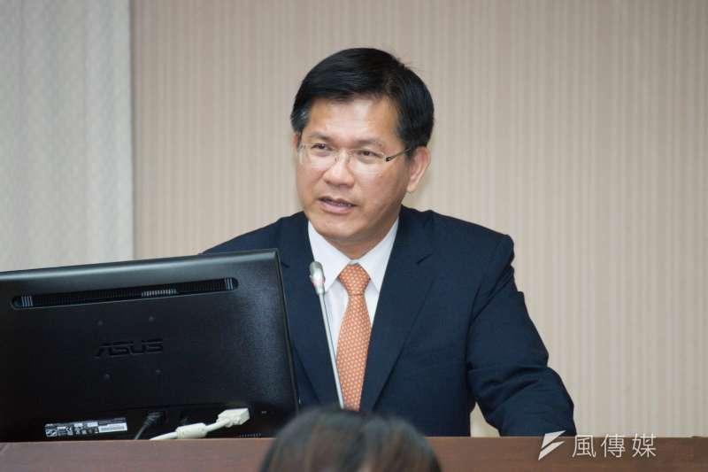 針對國民黨立法院黨團指控交通部許多人是「龍家班」,交通部長林佳龍表示是抹黑,並一一舉例澄清。(資料照,甘岱民攝)