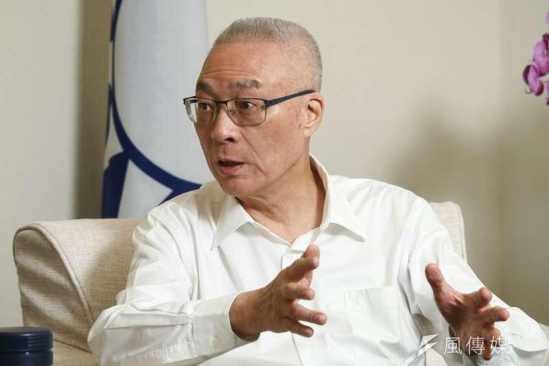 國民黨主席吳敦義如何帶領國民黨迎接2020總統大選勝利?(蔡親傑攝)