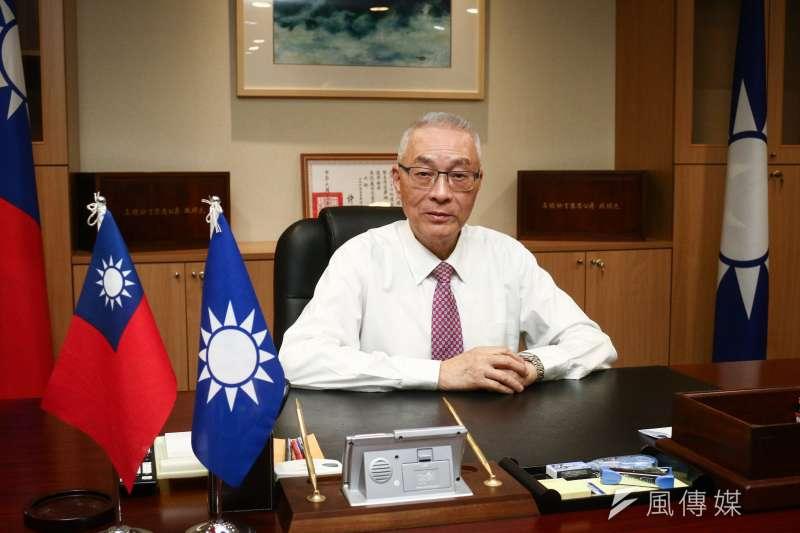 20190326-國民黨主席吳敦義26日接受專訪。(蔡親傑攝)