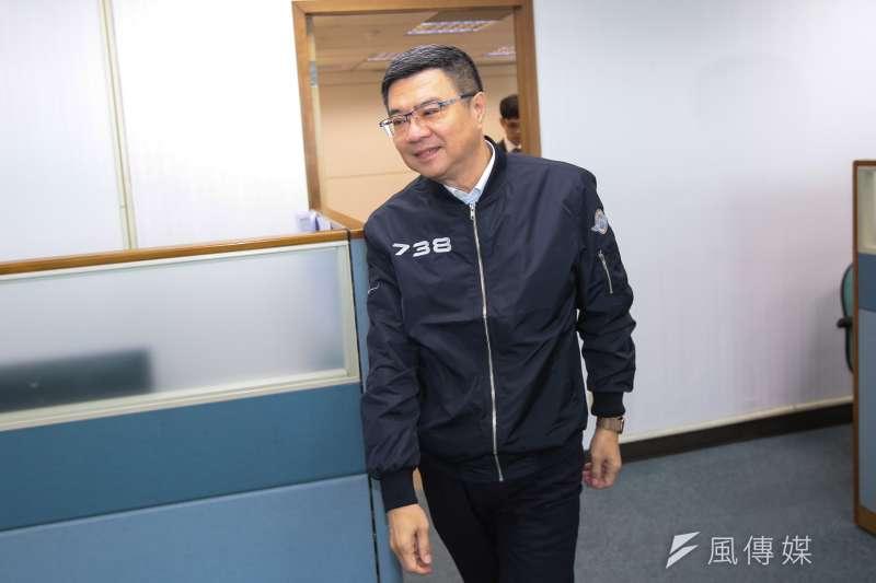 20190327-民進黨主席卓榮泰27日出席民進黨中執會。(顏麟宇攝)