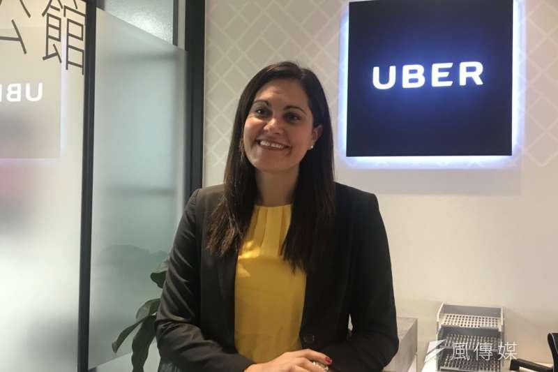 20190327_Uber北亞區公共政策與政府關係總監Emilie Potvin。(廖羿雯攝)