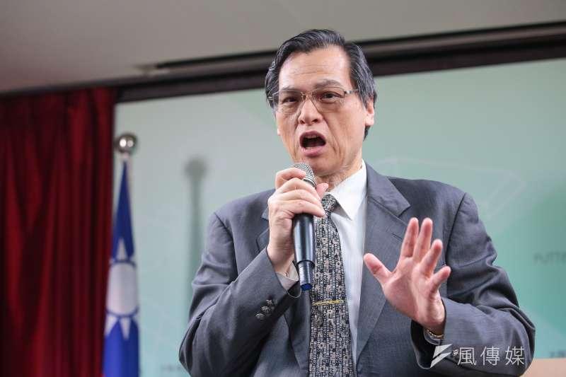 有支持者要高雄市長韓國瑜出來選總統,陸委會主委陳明通(見圖)說,若韓國瑜真的當上國家領導人,這個國家會「危如累卵」。(顏麟宇攝)