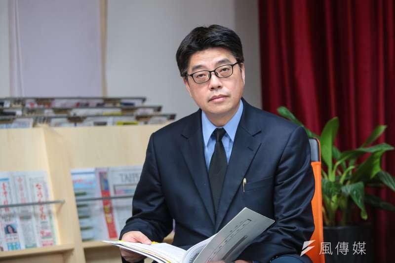 陸委會副主委邱垂正評論中國武統學者李毅來台一事。(資料照片,顏麟宇攝)