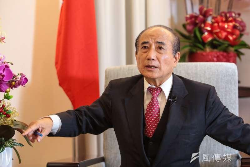 前立法院長王金平接受《風傳媒》專訪,力陳所謂的兩岸維持現狀就是維持和平現狀。(顏麟宇攝)