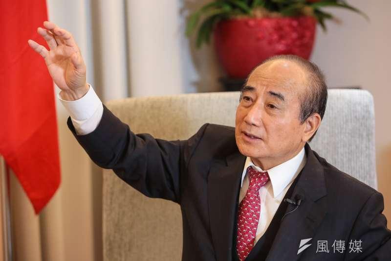 有意競選總統的前立法院長王金平,對國民黨是否徵召韓國瑜表示尊重,但也不諱言他有個人的想法。(顏麟宇攝)