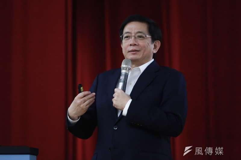 台灣大學校長管中閔在9月1日的台大開學典禮上,勉勵新生要讓眼界高一點、心胸寬一點、少些自滿、多些理想和謙遜。(資料照,簡必丞攝)