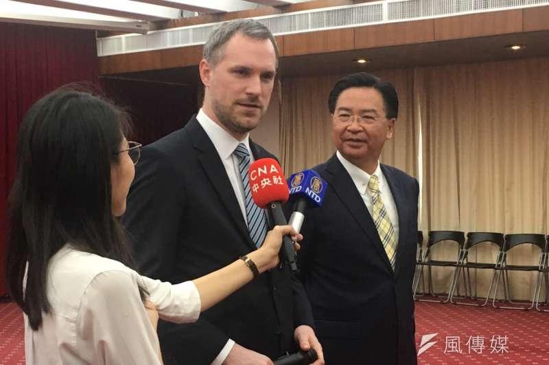 捷克布拉格市長賀吉普3月訪問台灣。(魏嘉瑀攝)
