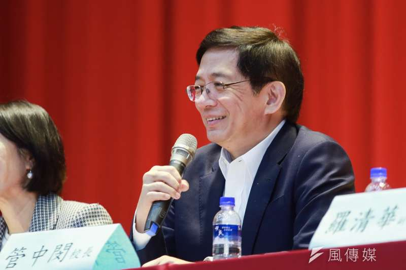 20190329-台大校長管中閔29日出席國立臺灣大學招生座談。(簡必丞攝)