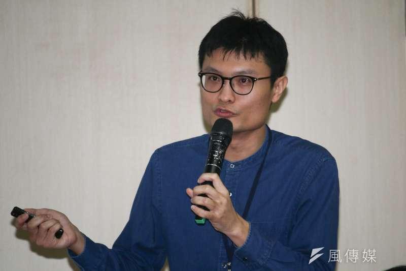20190329-政大陳昱齊同學出席「鄭南榕&言論自由」學術研討會,並發表論述。(蔡親傑攝)