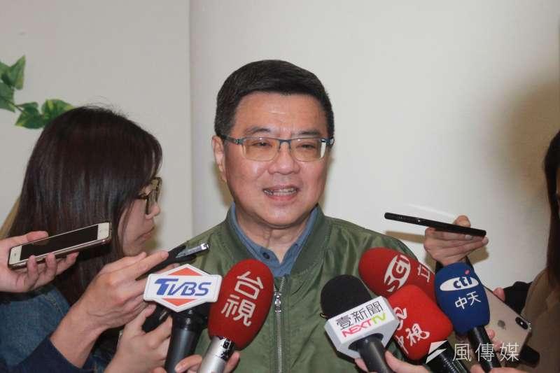 針對台北市長柯文哲直指民進黨九合一落敗原因,民進黨主席卓榮泰30日表示,對任何批評指教他都願意聽,但要講清楚。(方炳超攝)