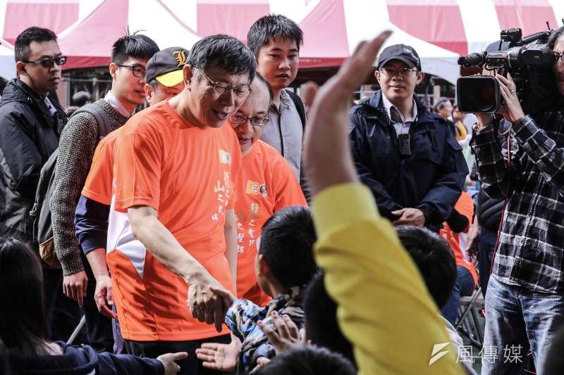 20190330-台北市長柯文哲出席萬華龍山國小百年校慶。(陳品佑攝)