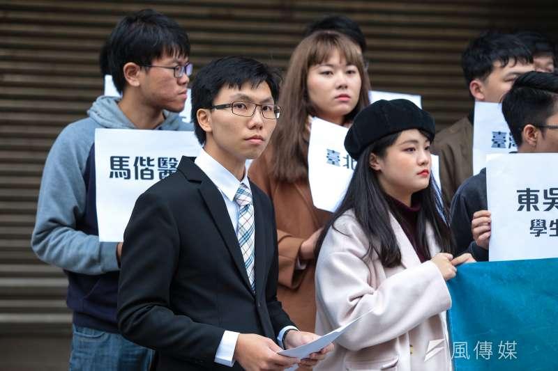 20190401-陽明大學學生會長洪辰昊1日出席「台灣學生聯合會 」成立記者會。(顏麟宇攝)