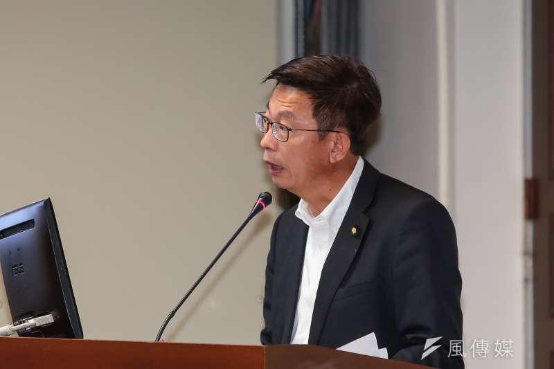 20190401-民進黨立委郭國文1日於經濟委員會質詢。(顏麟宇攝)