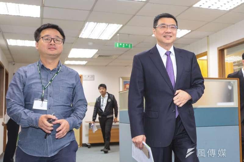 20190403-民進黨主席卓榮泰、秘書長羅文嘉3日出席民進黨中執會。(顏麟宇攝)