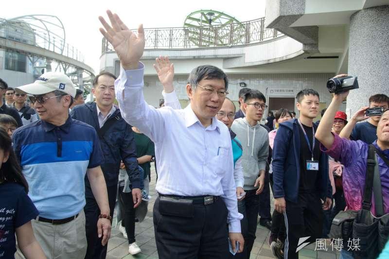 針對東區商圈近來停滯為成長情況,台北市長柯文哲6日走訪東區商圈後,提出4項振興計畫。(資料照,甘岱民攝)