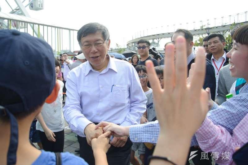 台北市長柯文哲是否參選2020總統大選與否,動態受矚。柯文哲在連任後,也頻出訪外縣市,和不少政壇人士互動,匯聚中南部地方能量。 (資料照,甘岱民攝)