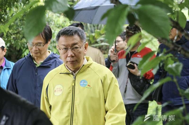 有媒體指美國深層政府不喜歡柯文哲,台北市長柯文哲表示,這是典型的假新聞。(資料照片,陳品佑攝)
