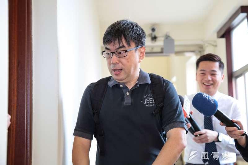民進黨立委段宜康回應曲棍球案。(資料照片,顏麟宇攝)