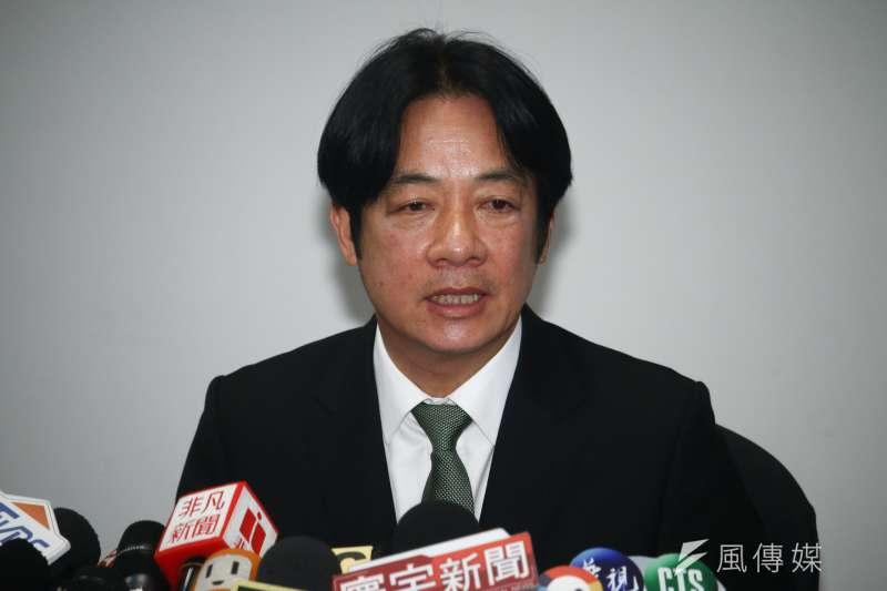 前行政院長賴清德表示,如果民進黨不改變,不僅會喪失政權,台灣的和平、主權和民主都會受到挑戰。(資料照,蔡親傑攝)