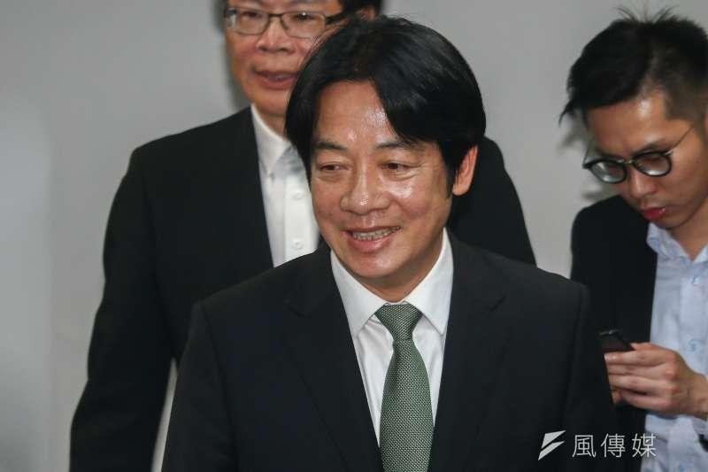 高雄市長韓國瑜稱台灣軍隊沒有軍法,就像「太監穿西裝」。前行政院長賴清德(見圖)21日表示,韓國瑜「引喻失當」。(資料照,蔡親傑攝)