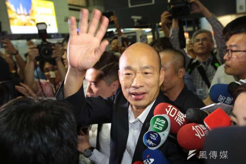 高雄市長韓國瑜就任四個月不到,却被韓粉力拱直攻總統大位。(顏麟宇攝)