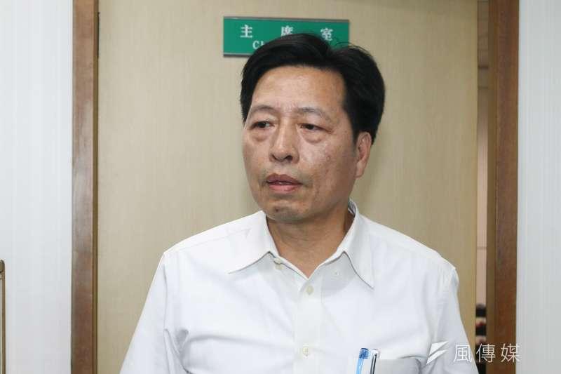 20190410-立委鄭寶清10日出席民進黨中執會。(蔡親傑攝)