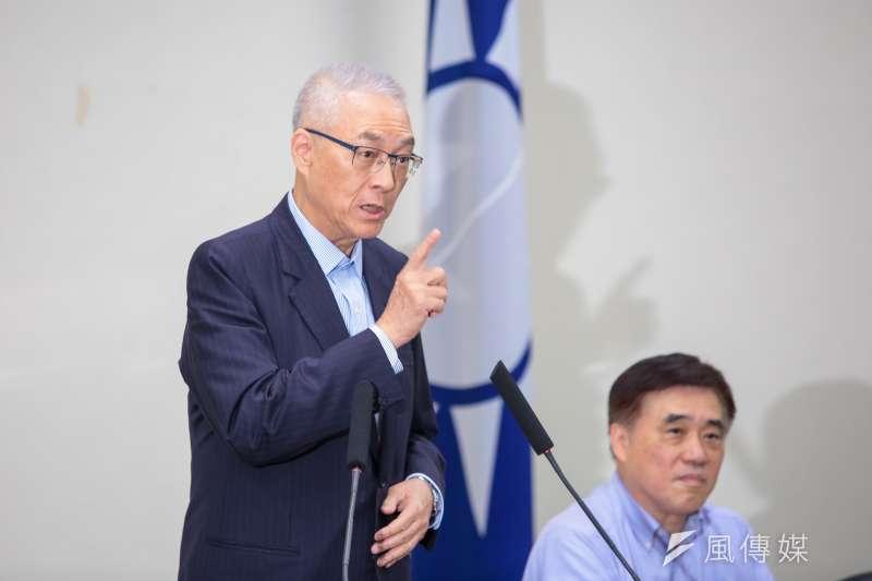 國民黨主席吳敦義搞定初選,能不能2020造王者,挑戰還很多。(顏麟宇攝)