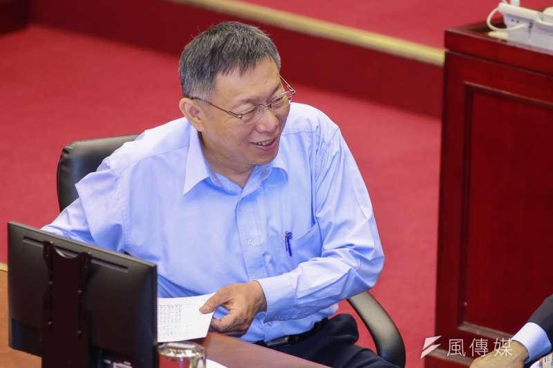20190410-台北市長柯文哲10日進行施政報告與質詢答覆。(簡必丞攝)