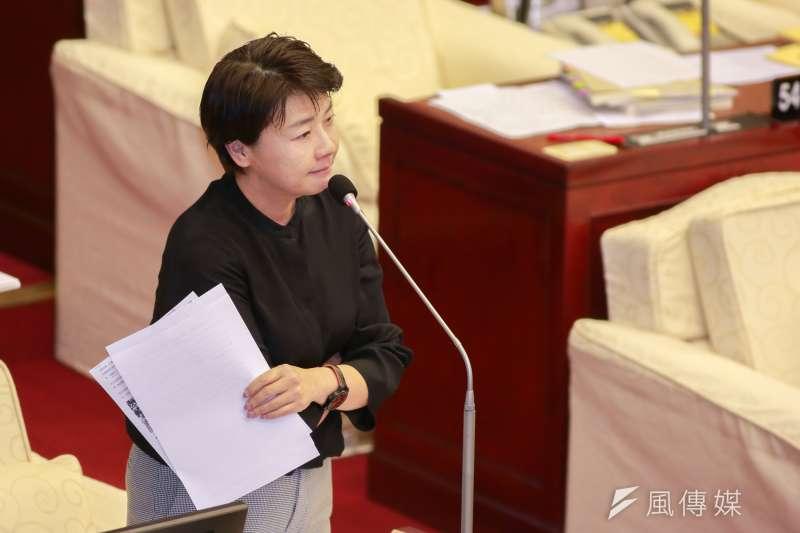 20190410-台北市議員黃珊珊10日進行質詢。(簡必丞攝)