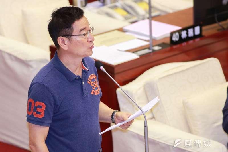20190410-台北市議員李慶元10日進行質詢。(簡必丞攝)