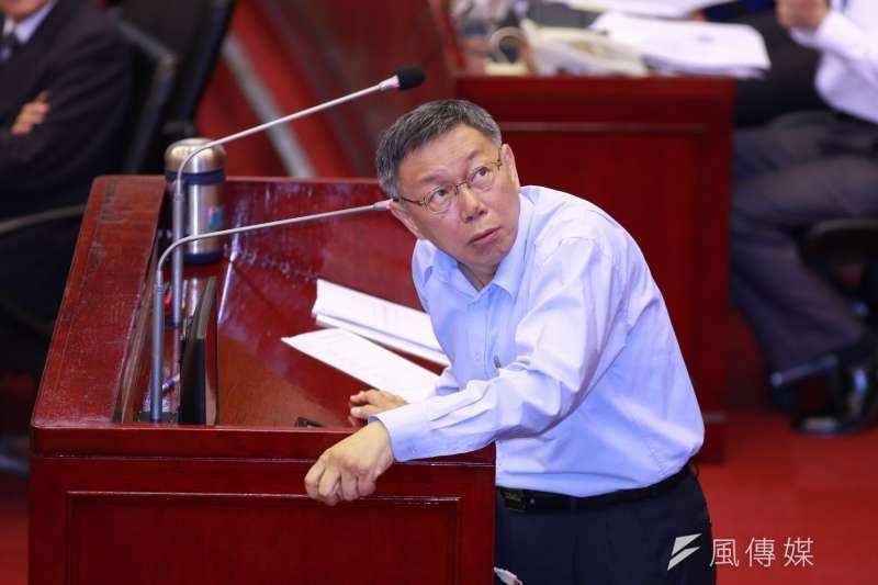 台北市政府11日上午傳出找來北市刑大人員進行反竊聽檢測,台北市長柯文哲11日備詢時僅回覆「通常定期都會做檢測」。(資料照,簡必丞攝)