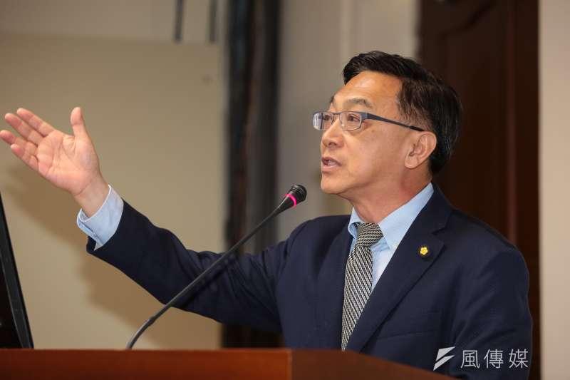 20190410-國民黨立委陳宜民10日於經濟委員會質詢。(顏麟宇攝)