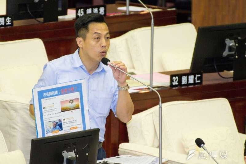 20190411-台北市議會質詢,台北市議員李明賢。(甘岱民攝)