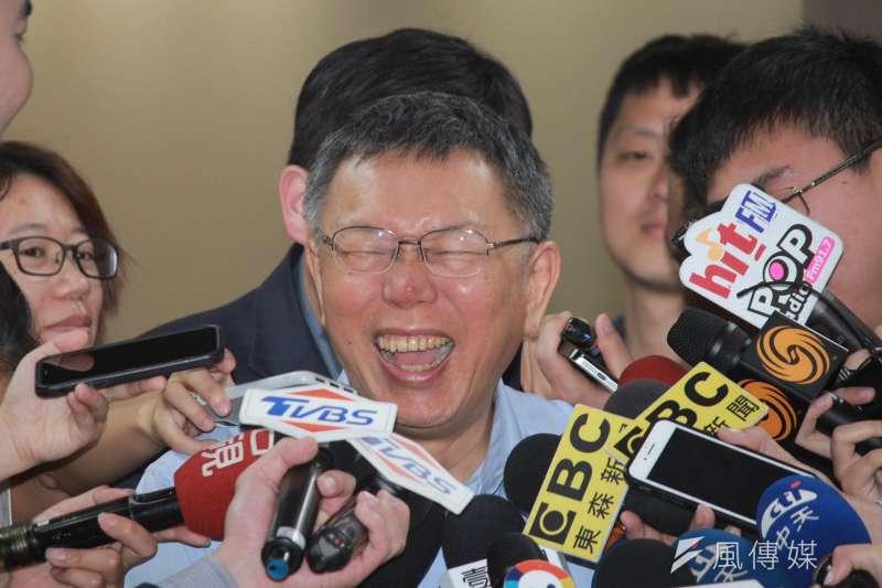 20190411-台北市長柯文哲11日於市府接受媒體聯訪。(方炳超攝)