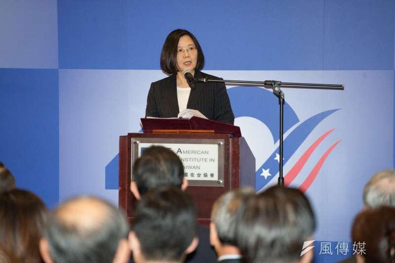 20190415-台灣關係法&AIT@40:40友誼慶祝酒會,總統蔡英文致詞。(甘岱民攝)