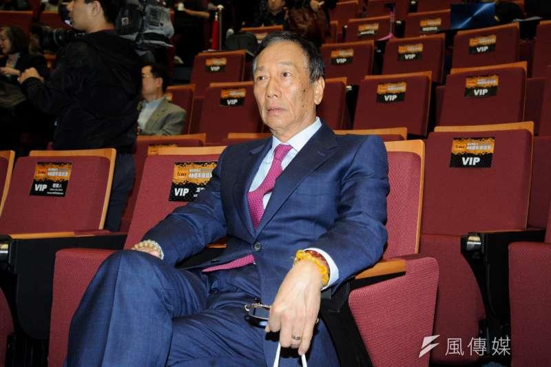 鴻海集團董事長郭台銘近日鬆口表示,考慮將參選2020總統大選。(資料照,甘岱民攝)