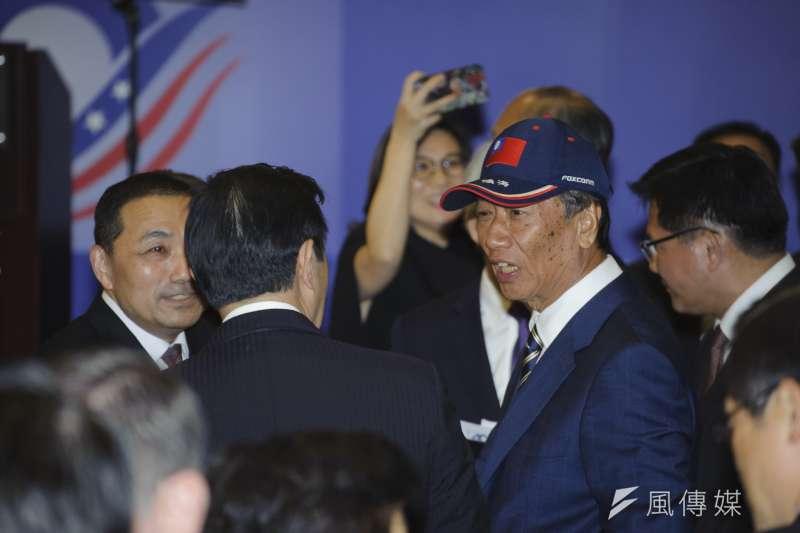 針對2020年總統大選,鴻海董事長郭台銘今(16)日表示,這兩天會考慮。(資料照,甘岱民攝)