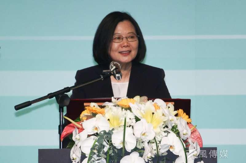 女性經濟賦權高峰會:總統蔡英文出席致詞。(蔡親傑攝)