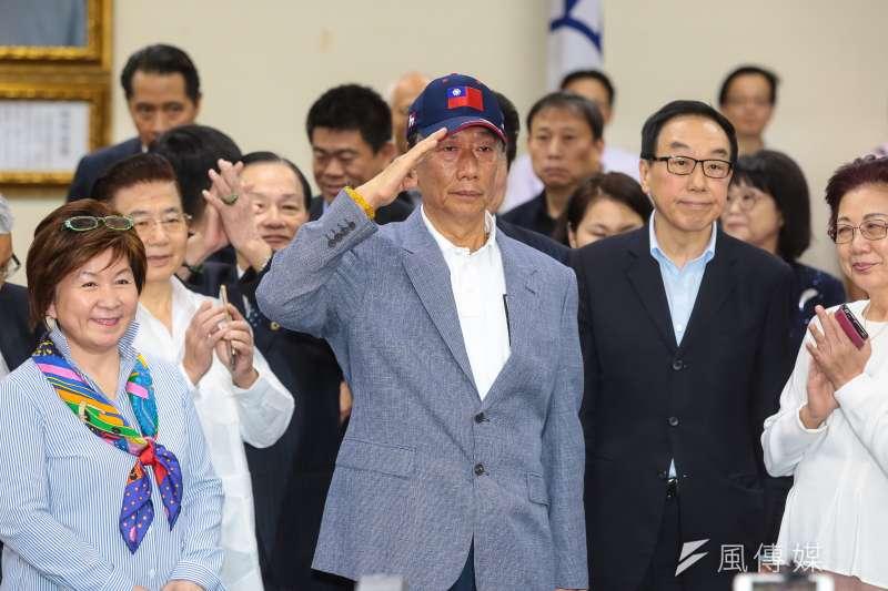 鴻海董事長郭台銘近來釋出想選總統的念頭。(顏麟宇攝)