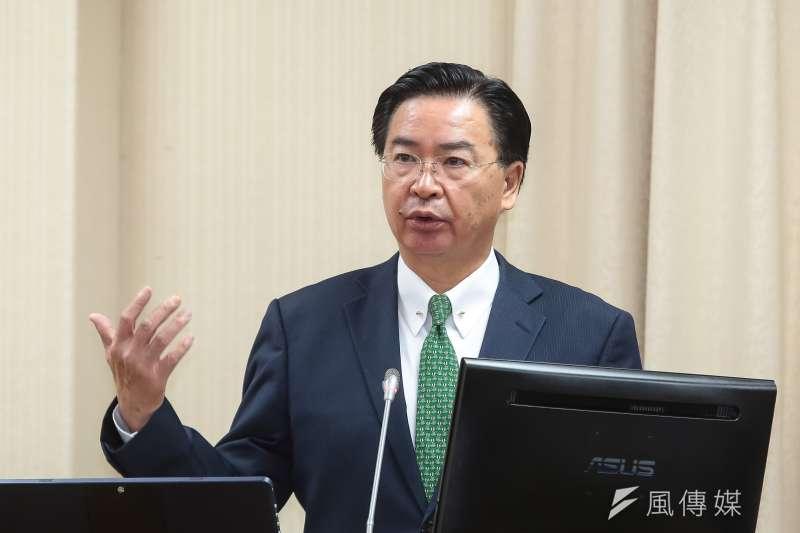外交部長吳釗燮(見圖)12日下午在推特發文,強調中國全國政協主席汪洋會見多家台媒只有一個目標,就是從內部擊潰台灣。(資料照,顏麟宇攝)