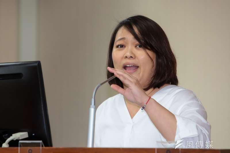 親民黨立委陳怡潔回應韓國瑜無法參加初選問題。(資料照片,顏麟宇攝)