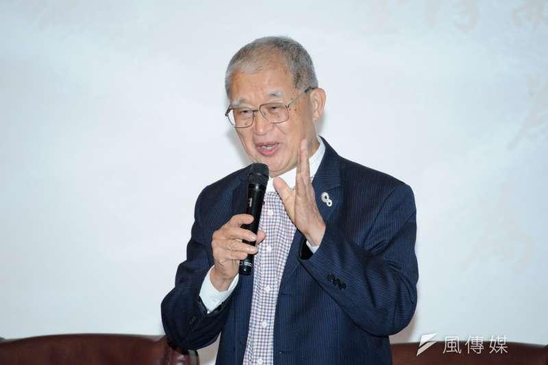 20190418-「台灣的定海神針」國際論壇,前監察院長王建煊。(甘岱民攝)